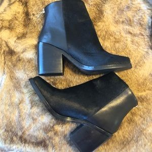 ankle faux fur boots